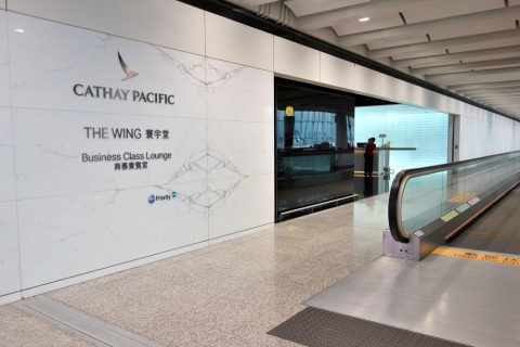 香港THE-WINGラウンジ入口