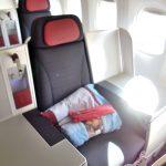 オーストリア航空ビジネスクラス搭乗記/成田行き運行再開!シートとアメニティ