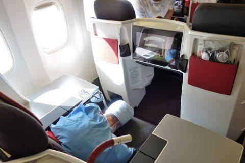 座席の占有面積/オーストリア航空ビジネスクラス