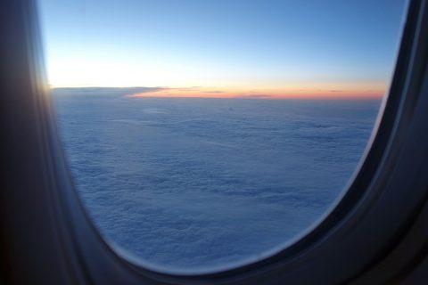 飛行機から見た白夜