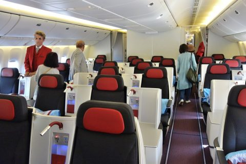 オーストリア航空ビジネスクラス