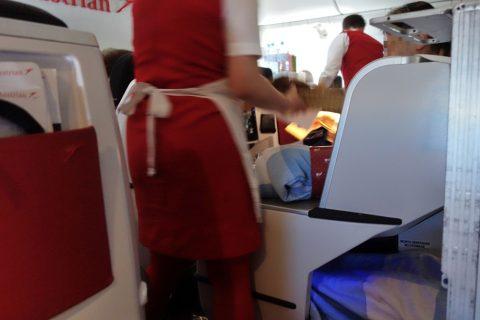 朝食サービス/オーストリア航空ビジネスクラス