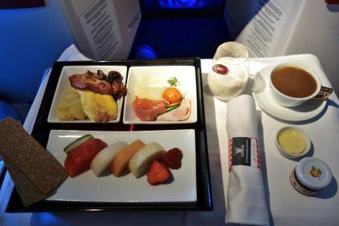 朝食/オーストリア航空ビジネスクラス