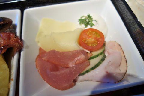 ハムとチーズ/オーストリア航空ビジネスクラス