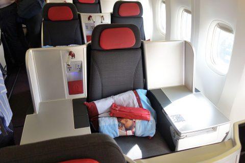 3Aの席/オーストリア航空ビジネスクラス