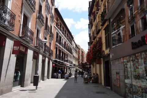 スペインマドリードの街並み