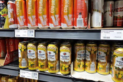 ミュンヘンのスーパーで売られているビール