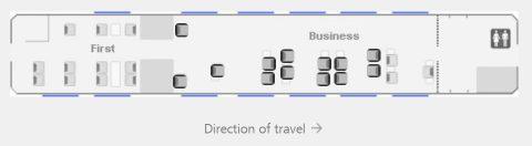 レイルジェット/ビジネスクラスのシートマップ