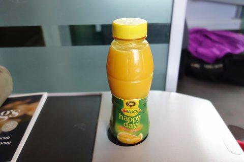 レイルジェットのオレンジジュース