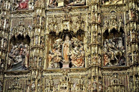 セビリア大聖堂の主祭壇の装飾・聖人