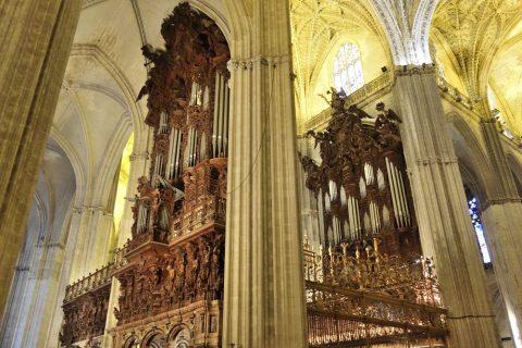 パイプオルガンが4つ/セビリア大聖堂