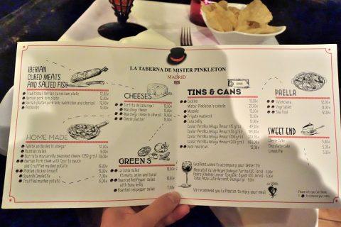 La-Taberna-de-Mister-Pinkleton/料理のメニュー