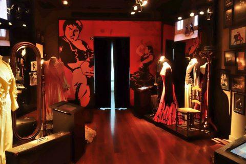 フラメンコ博物館の衣服展示