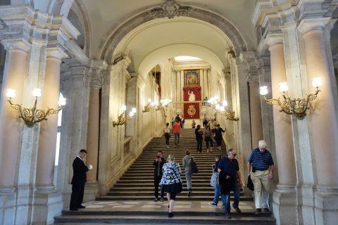 マドリード王宮の階段