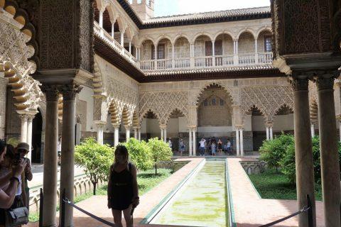 Real-Alcazar-de-Sevilla/宮殿の中庭