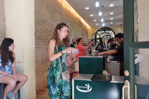 Real-Alcazar-de-Sevilla/カフェのレジ