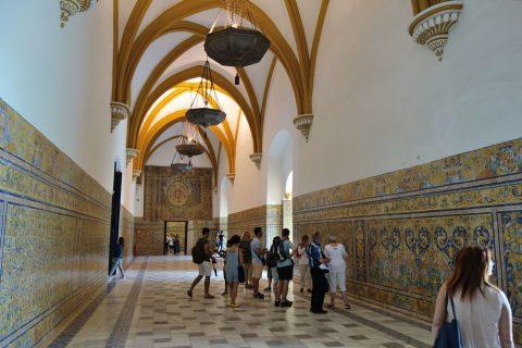 Real-Alcazar-de-Sevilla/宮殿の上階