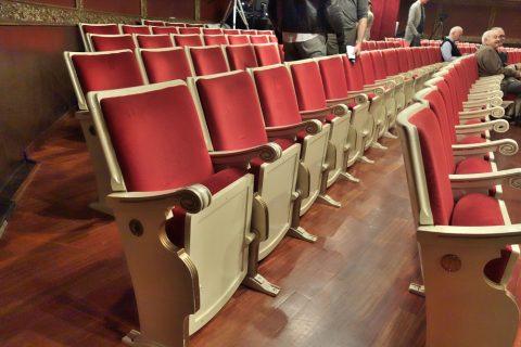 平土間のシートピッチ/サルスエラ国立劇場
