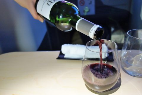 ボルドーワイン/ANAビジネスクラス