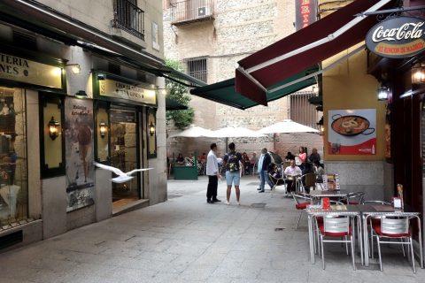 マドリードのカフェ街