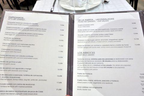 la-taurina-madrid/メニュー
