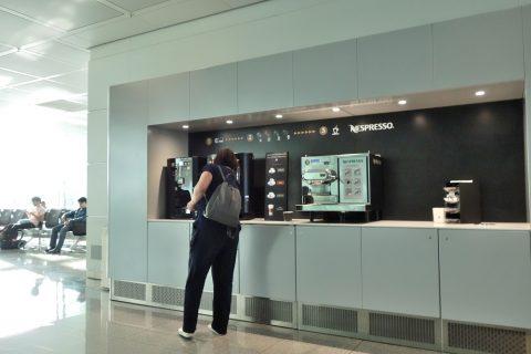 ミュンヘン空港のコーヒーマシン