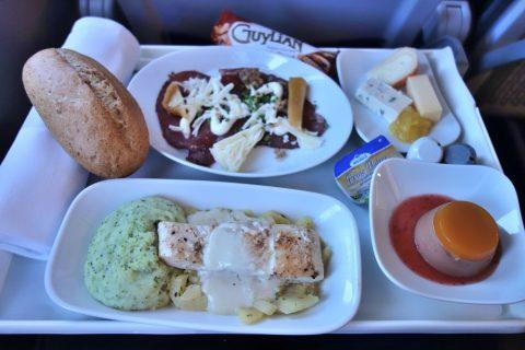 ルフトハンザ航空ビジネスクラス機内食ミュンヘン~マドリード