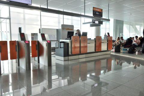 ミュンヘン空港搭乗口
