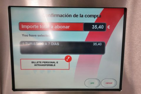 madrid-metro/券売機の確認画面