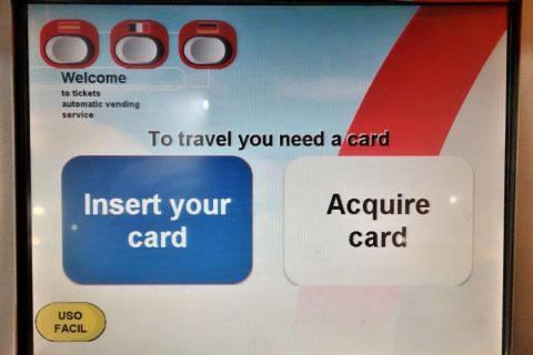 madrid-metro/券売機の画面