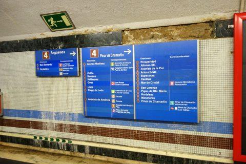 madrid-metro/路線標識