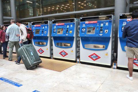 マドリードのメトロ券売機