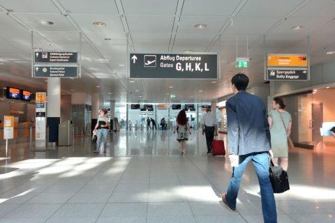 ミュンヘン空港の出発口