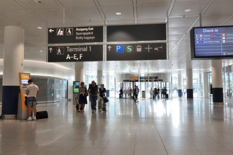 ミュンヘン空港到着ロビー