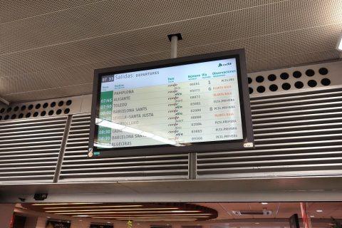 renfe-atocha/の電光掲示板