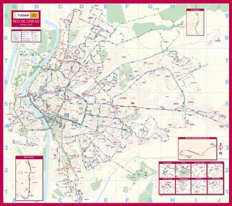セビリアのトラム・メトロマップ