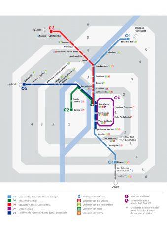 セビリア/列車MAP