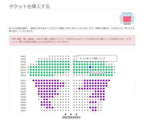 サルスエラ国立劇場/チケット選択