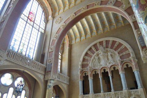 Hospital-de-Sant-Pau/管理棟ホールの天井