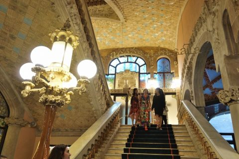 カタルーニャ音楽堂/階段のデザイン