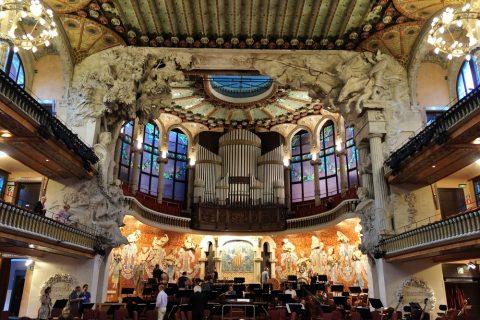 ステージの景観/カタルーニャ音楽堂