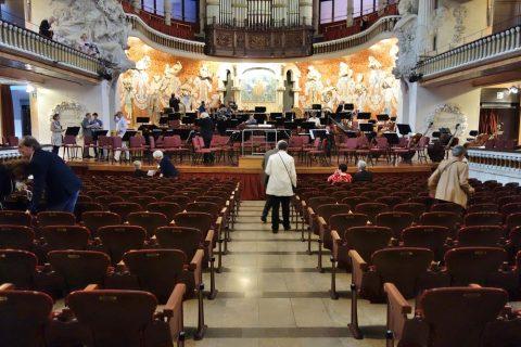 カタルーニャ音楽堂・1階席からの眺望