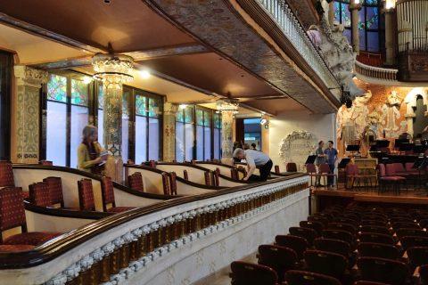1階サイドの席/カタルーニャ音楽堂