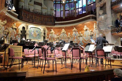 カタルーニャ音楽堂の舞台上