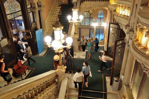 カタルーニャ音楽堂の大階段