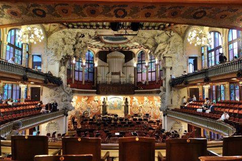 中央からの眺め/カタルーニャ音楽堂
