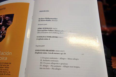 公演プログラム/カタルーニャ音楽堂