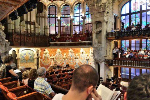2階席からの眺望/カタルーニャ音楽堂