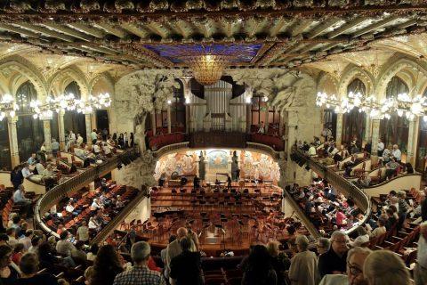 カタルーニャ音楽堂/最上階からの眺め