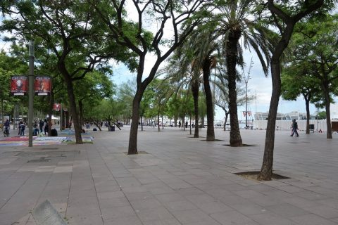 バルセロナの海に近いエリア